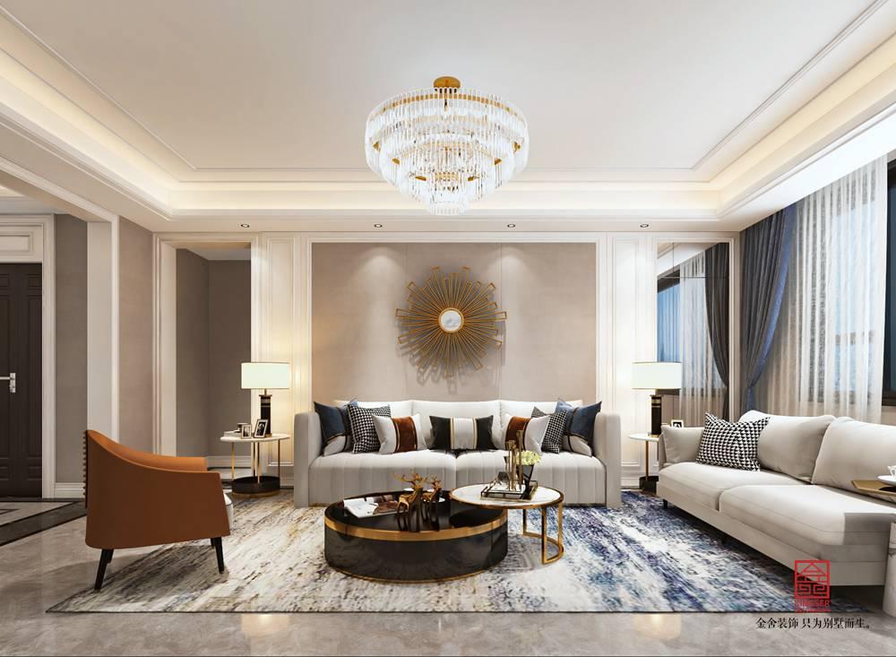 国赫天著155平米装修-轻奢风格-客厅