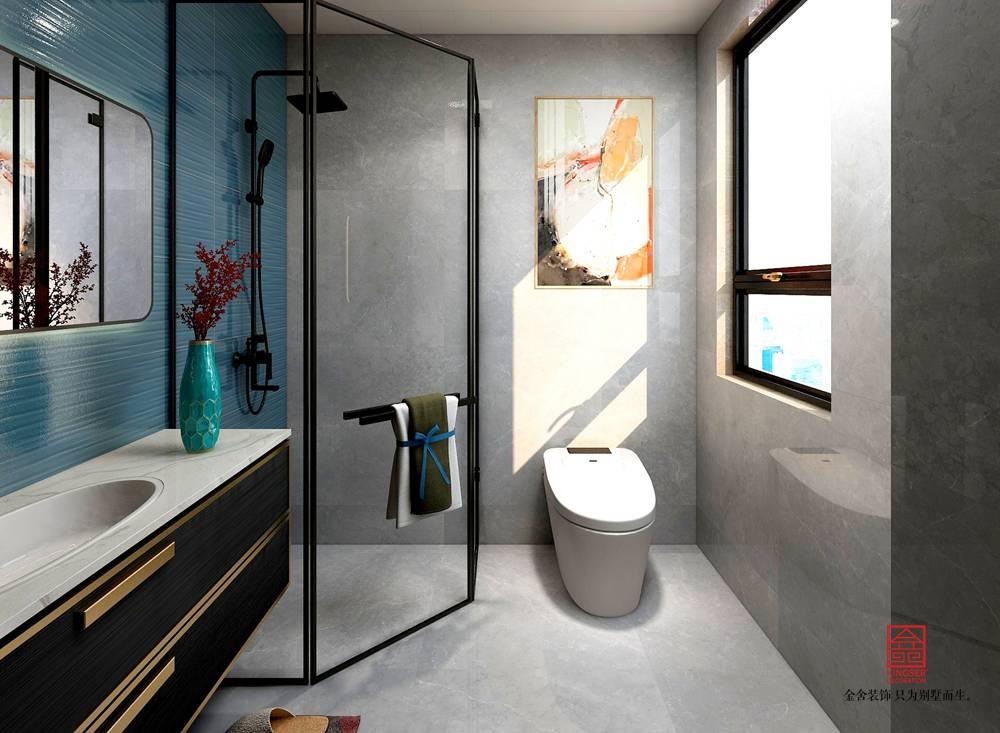 国赫天著155平米装修-轻奢风格-卫生间
