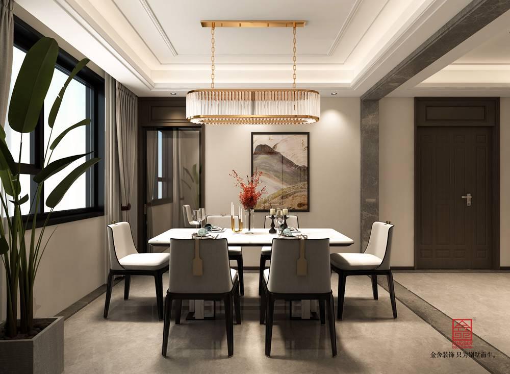 国赫天著155平米装修-中式风格-餐厅