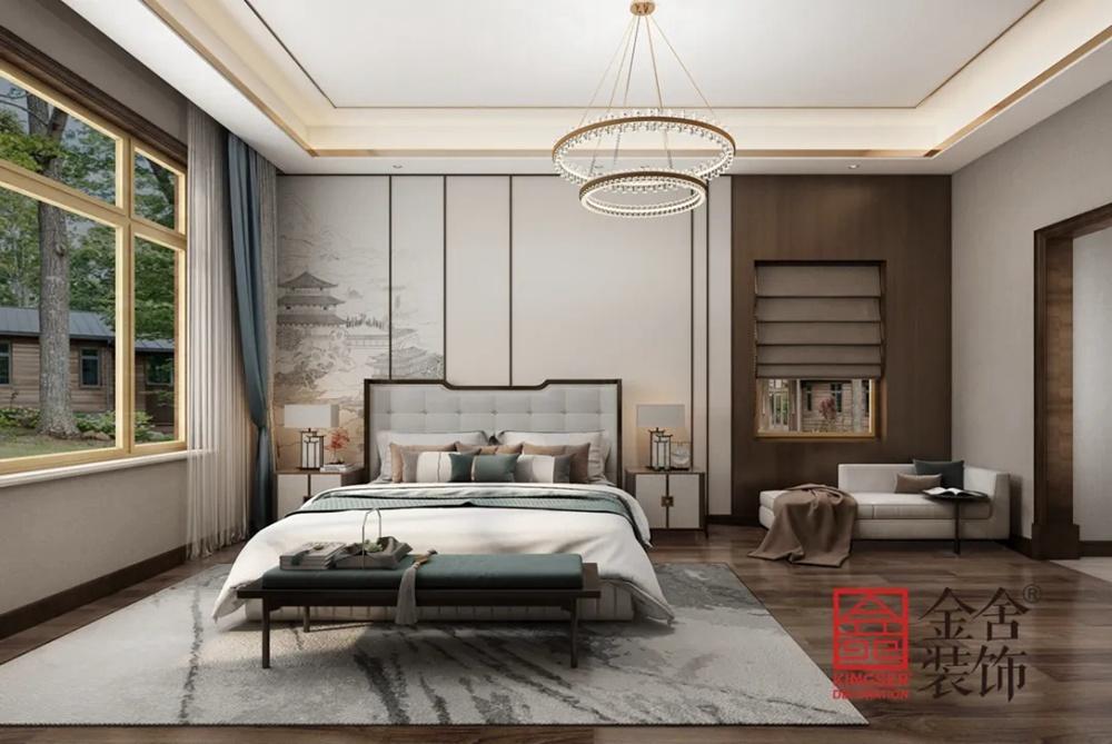 1400平米别墅中式风格装修-卧室