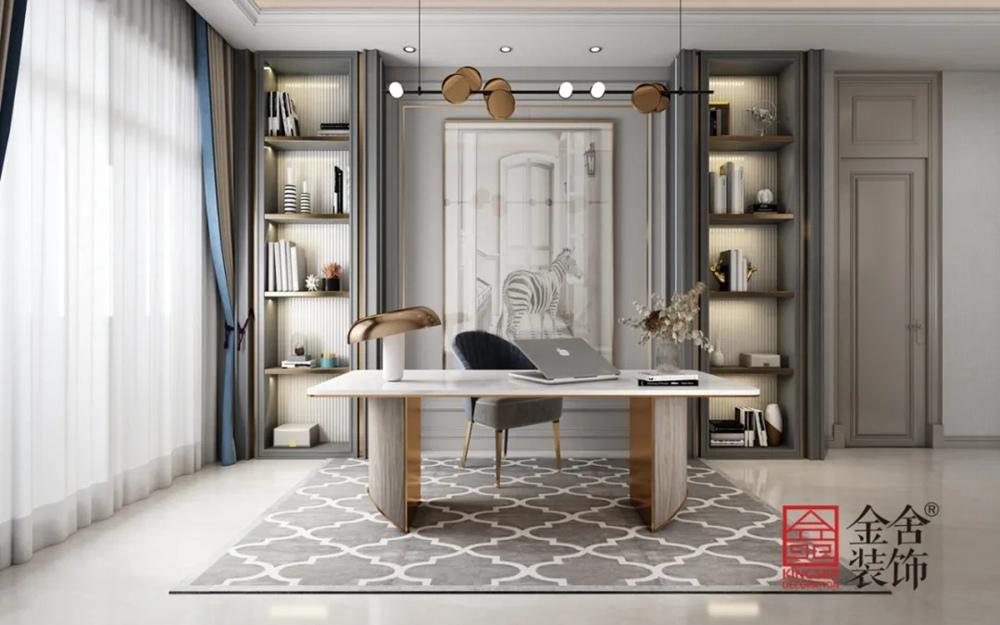 1400平米别墅中式风格装修-书房