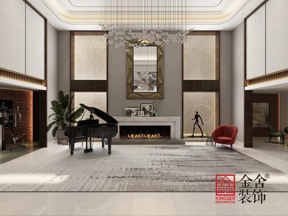 1400平米别墅中式风格装修-休息室