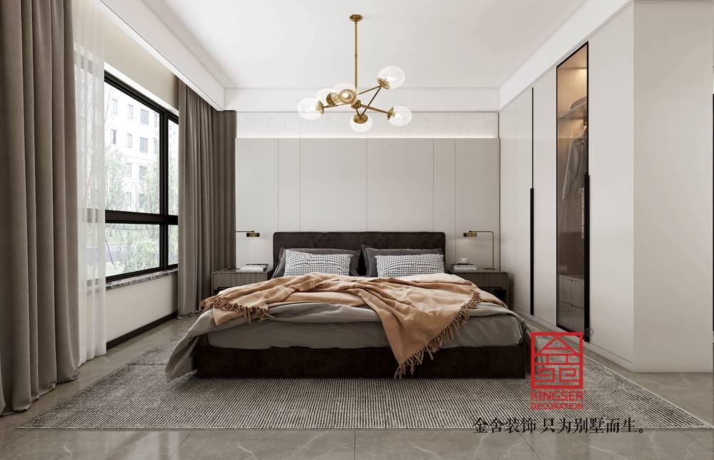 荣盛御府186平米新中式风格装修-卧室