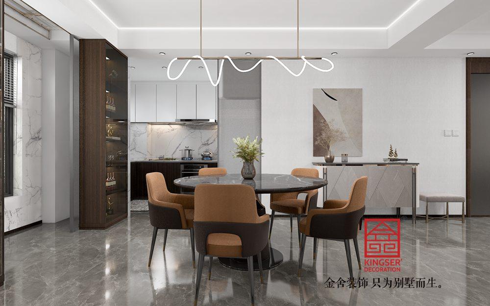 荣盛御府186平米新中式风格装修-餐厅