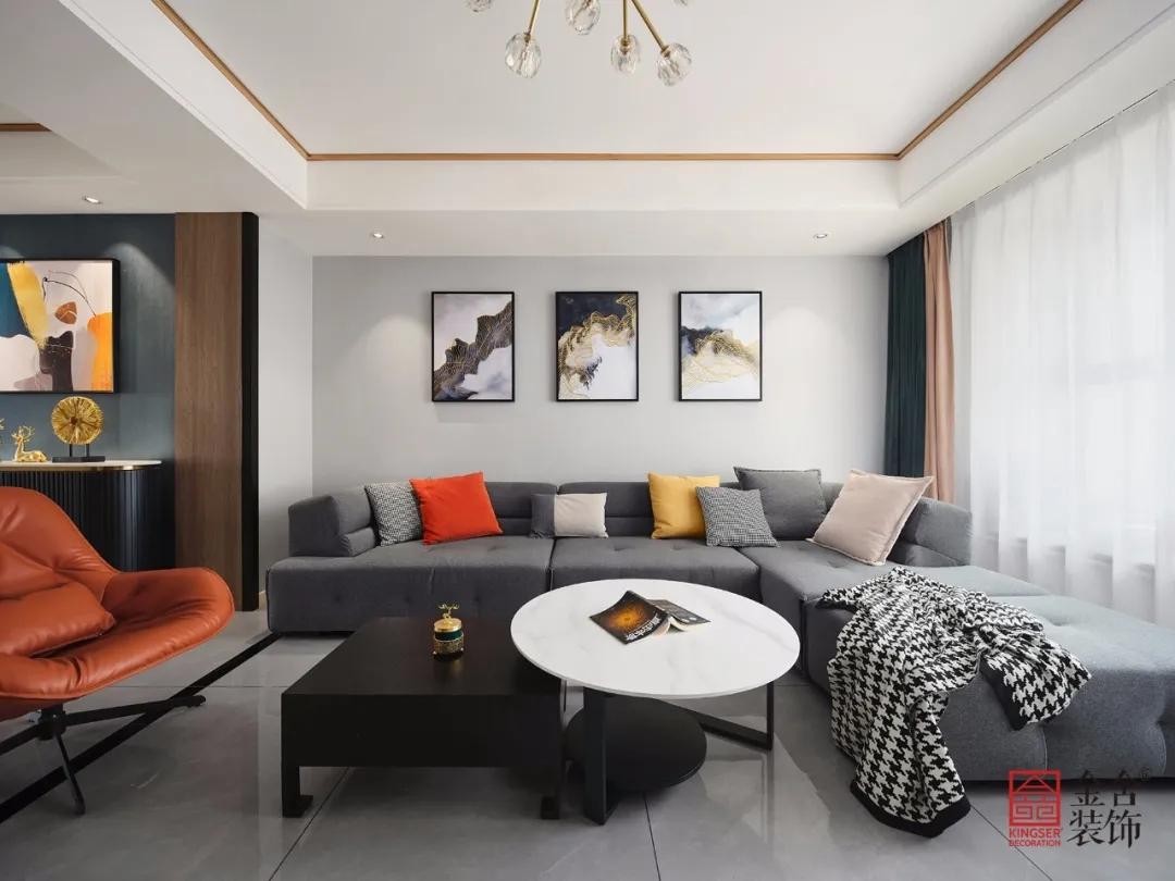 直隶新城167平米现代北欧风格装修-客厅