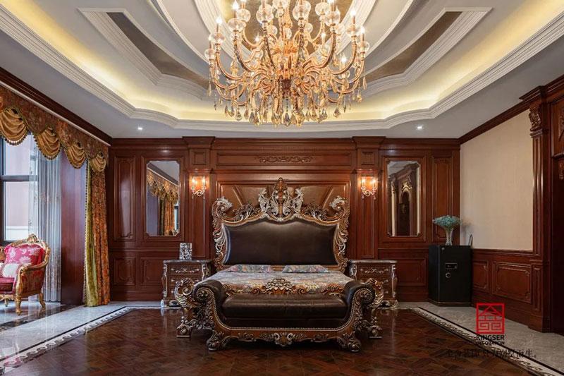 御珑华府2400㎡别墅装修设计-卧室