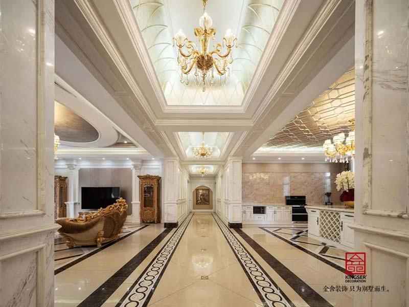 御珑华府2400㎡别墅装修设计-走廊