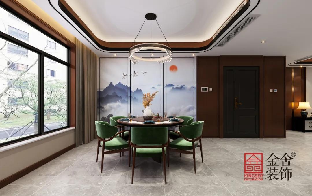 融创中心217平米新中式风格装修-餐厅