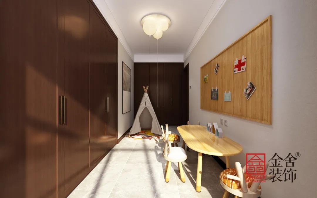 融创中心217平米新中式风格装修-儿童房