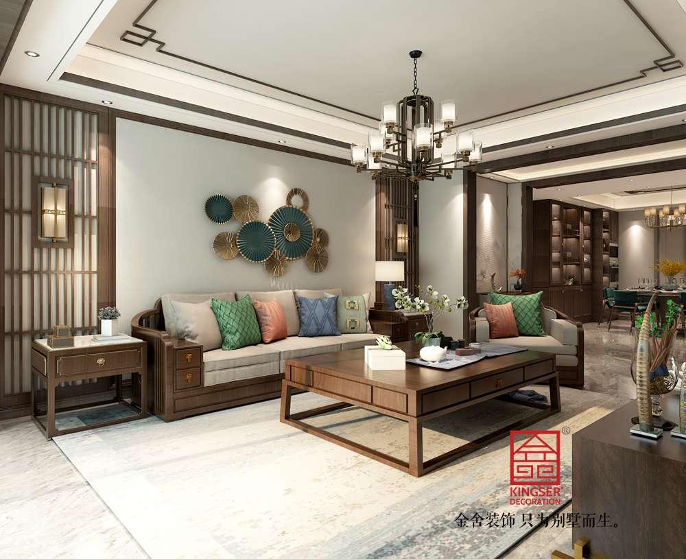 融创中心180平米新中式风格-客餐厅