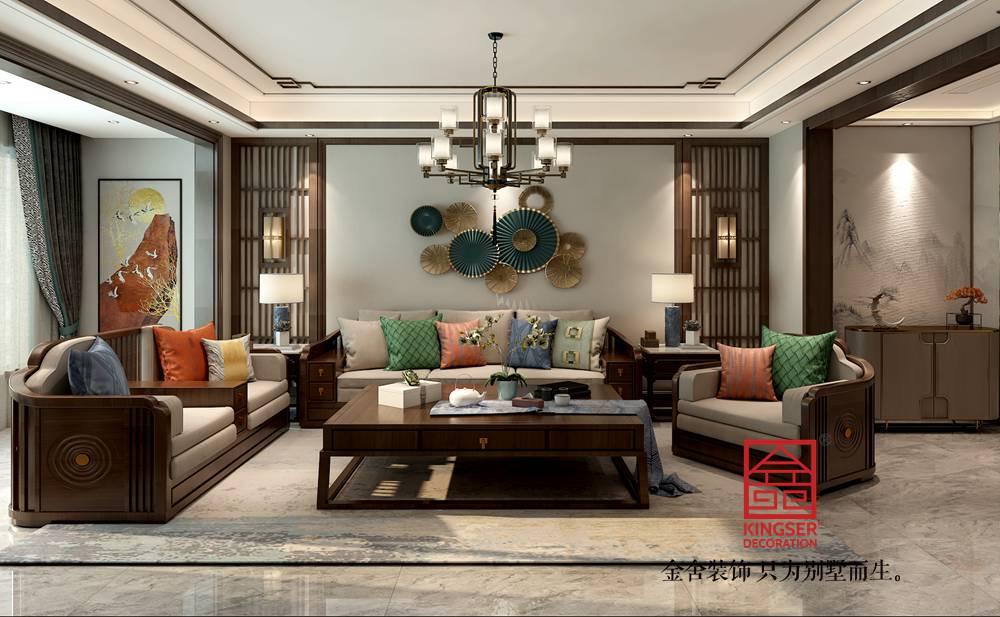 融创中心180平米新中式风格-客厅