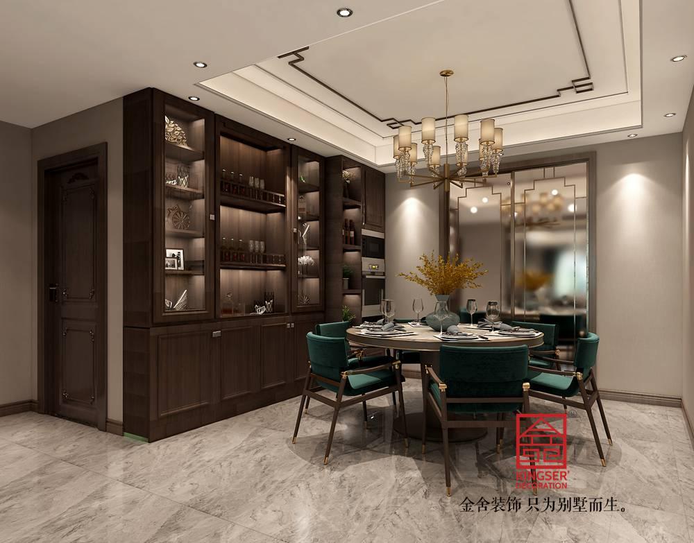 融创中心180平米新中式风格-餐厅