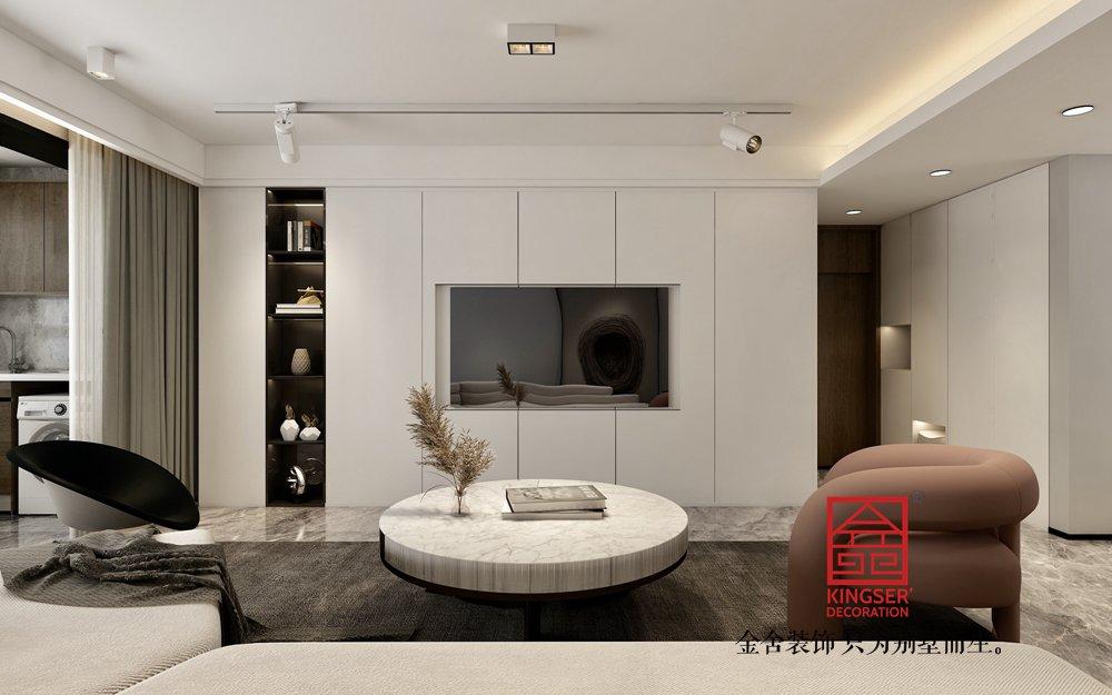 东南智汇城170平米现代简约装修-客厅