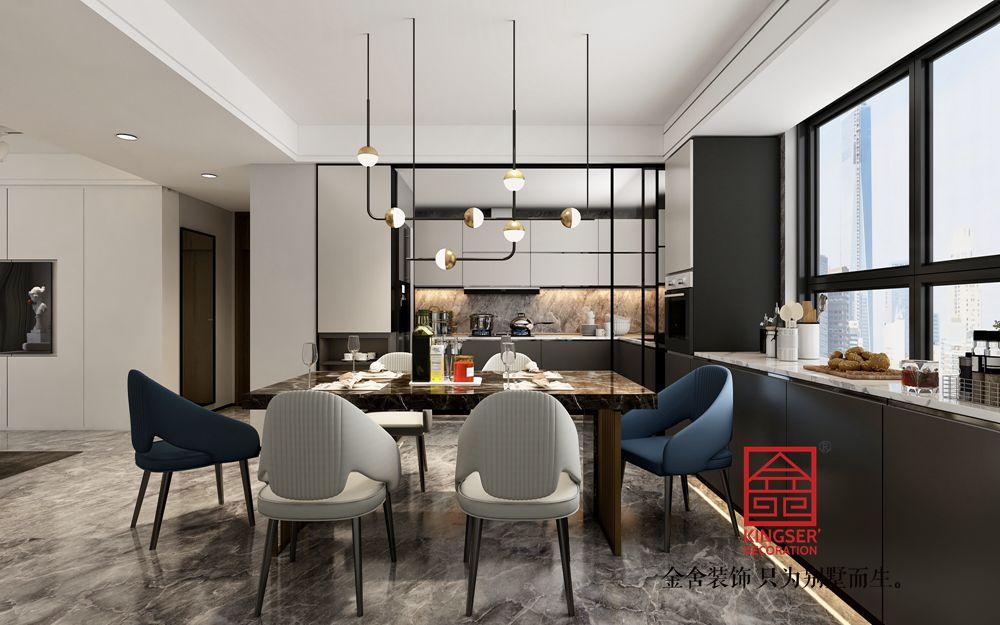 东南智汇城170平米现代简约装修-餐厅