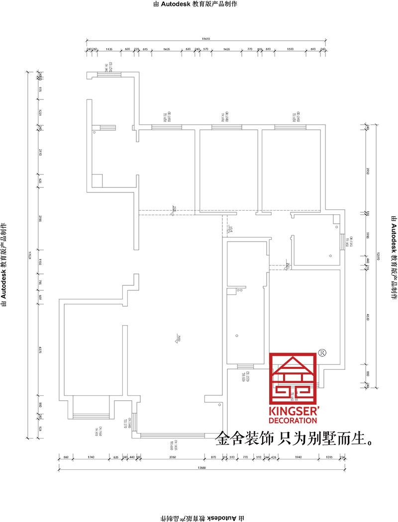 东南智汇城185平米欧式风格装修户型解析