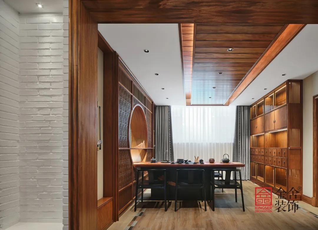 莲花庭院600平米别墅中式风格装修-餐厅