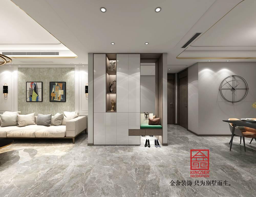 融创中心155平米港式轻奢风格装修案例