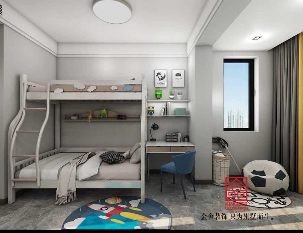融创中心155平米港式轻奢风格装修-儿童房