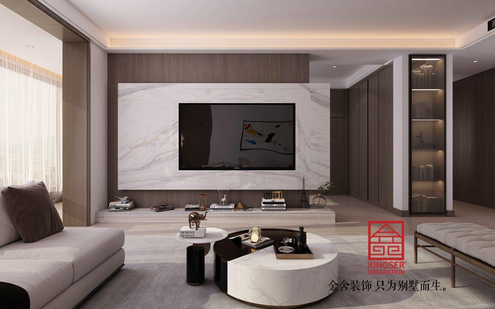 融创中心217平米现代极简风格装修案例