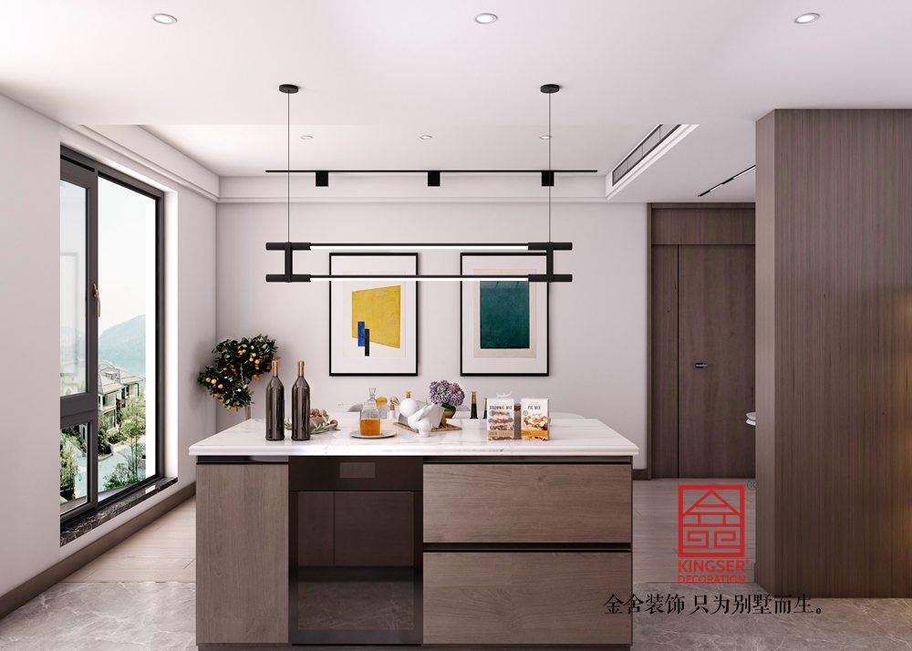 融创中心217平米现代极简风格装修-厨房