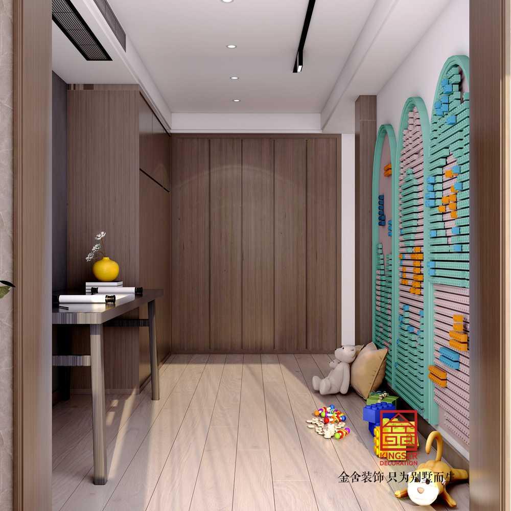 融创中心217平米现代极简风格装修-休闲室