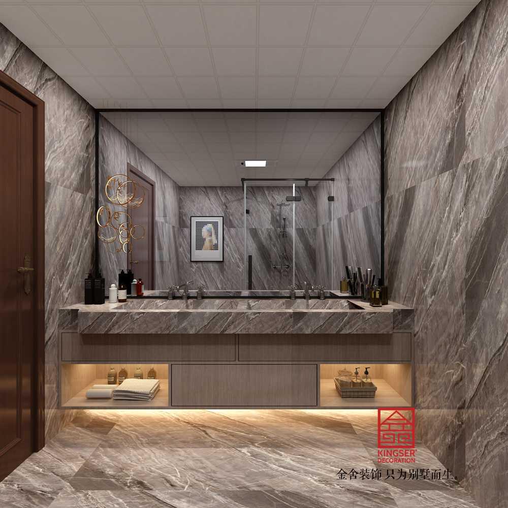 融创中心217平米中式风格装修-卫生间