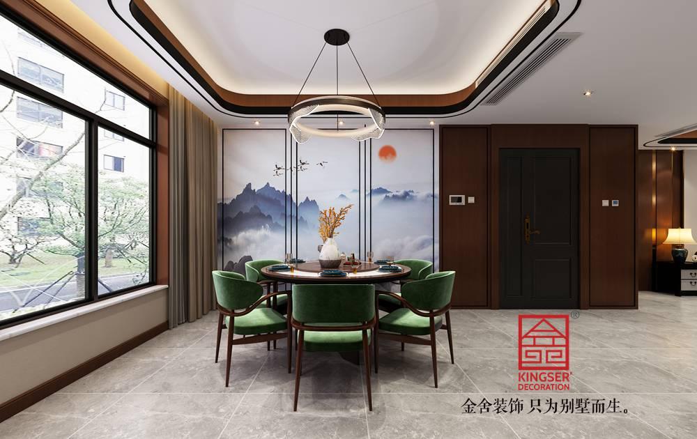 融创中心217平米中式风格装修-餐厅