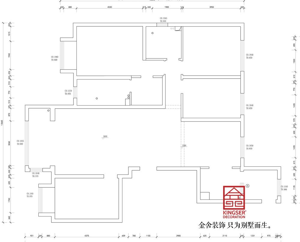 东南智汇城191平美式风格装修户型解析