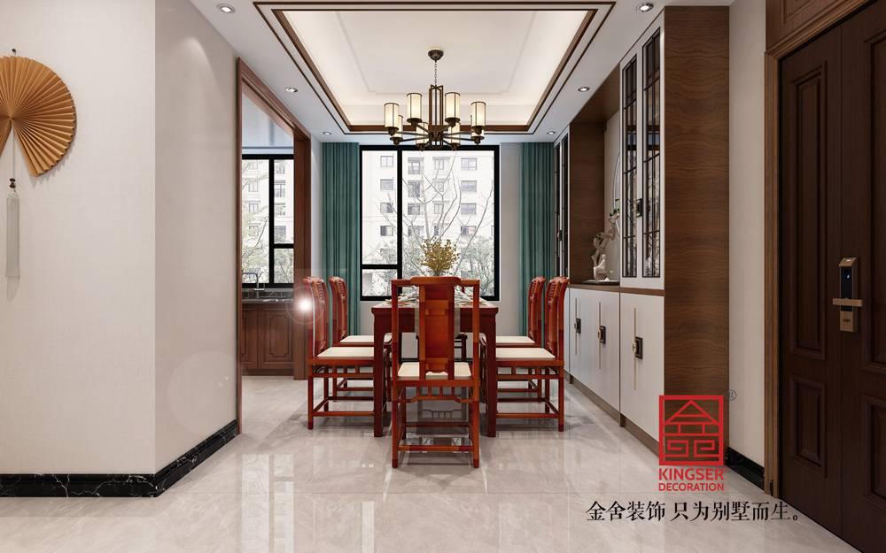 融创中心125平米新中式风格装修-餐厅