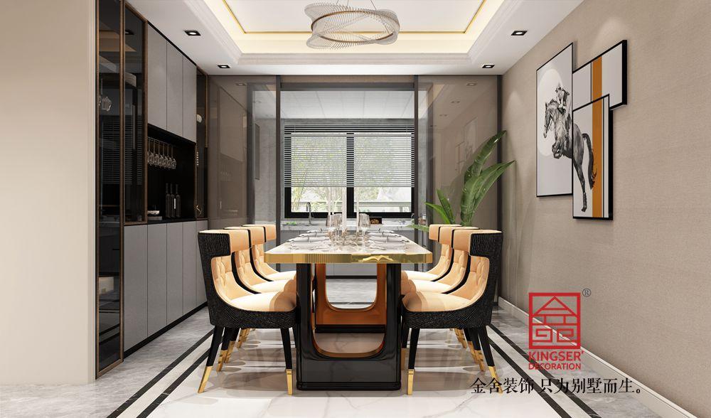 融创中心180平米美式轻奢-餐厅