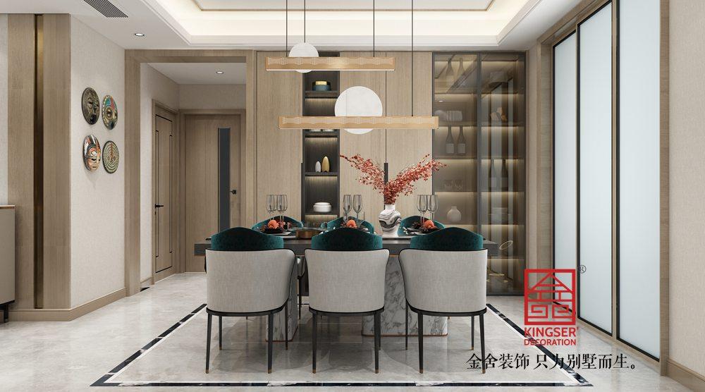 融创中心180平米新东方风格装修-餐厅