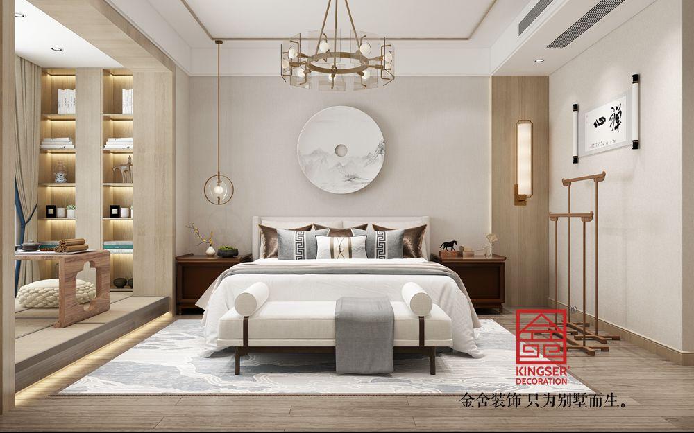 融创中心180平米新东方风格装修-卧室