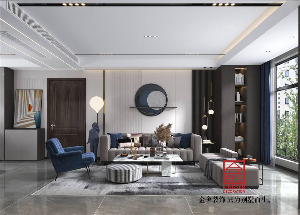 融创中心127平米现代轻奢风格装修效果图