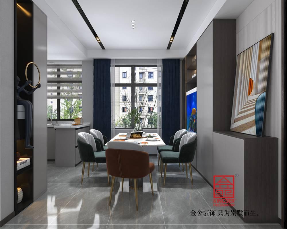 融创中心127平米现代轻奢风格-餐厅