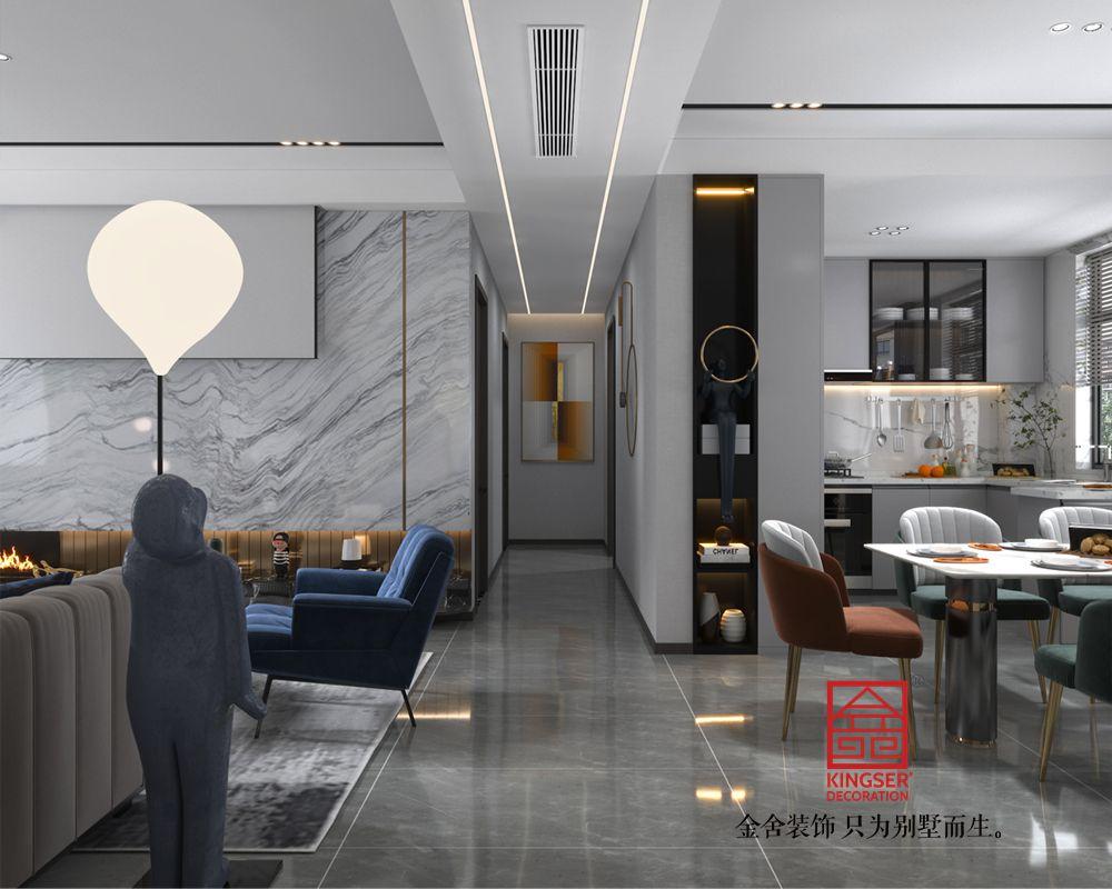 融创中心127平米现代轻奢风格-玄关