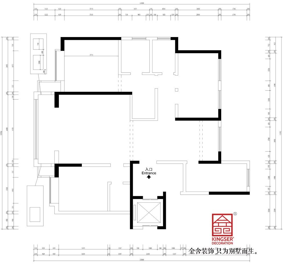 天山熙湖141平米新中式风格装修户型解析