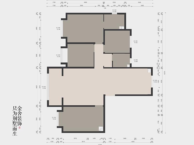 远洋晟庭170平米现代风格装修户型解析