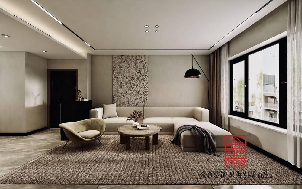 国赫天著130平米现代简约装修-客厅