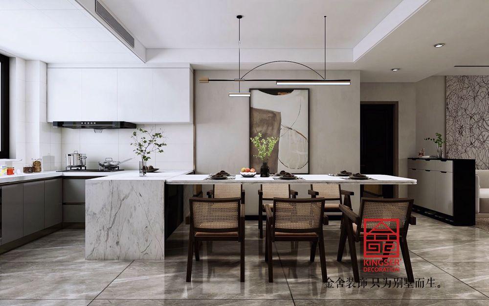 国赫天著130平米现代简约装修-餐厅