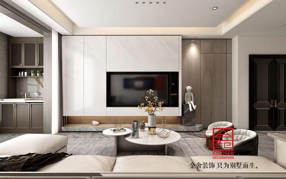 融创中心180平米现代轻奢风格装修效果图
