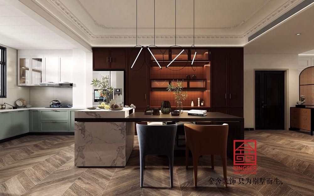 融创中心180平米法式复古装修-餐厅