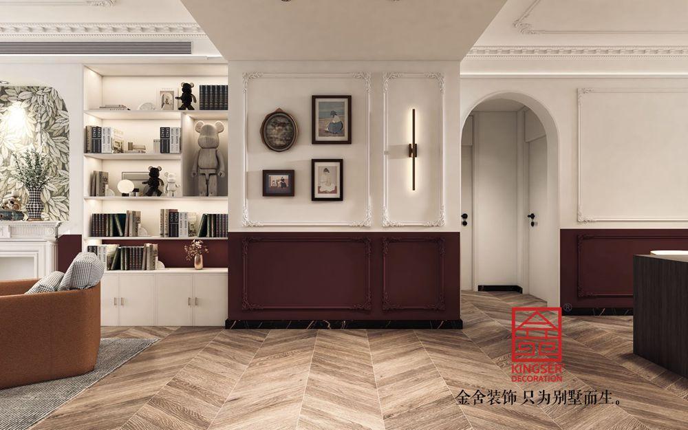 融创中心180平米法式复古装修-玄关