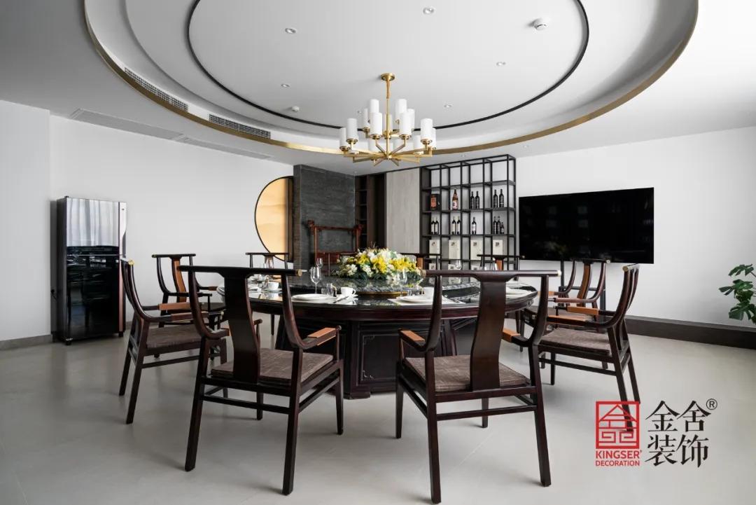 八马茶业中式风格装修实景-餐厅