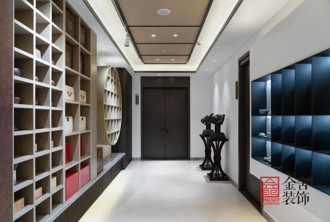 八马茶业中式风格装修实景-走廊